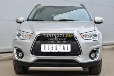 Mitsubishi ASX 2013 Защита переднего бампера d75х42 овал MASZ-001323